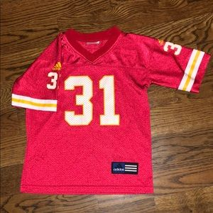 Boys size 6 Chiefs jersey
